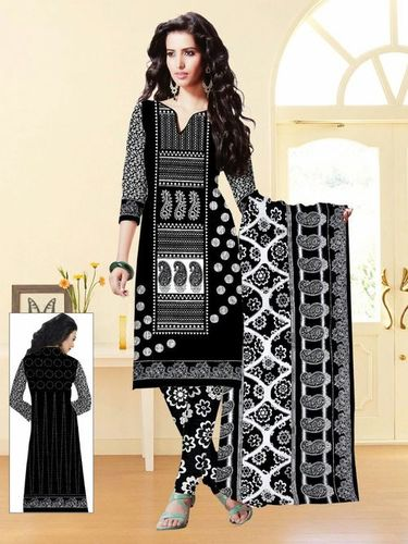 Black And White Salwar Kameez