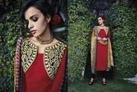 Cotton Jacquard Resham Work Unstitch  Salwar Kameez