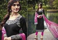 Cotton Jacquard Lace work  Unstitch  Salwar Kameez