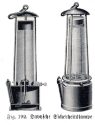 davy safety lamp