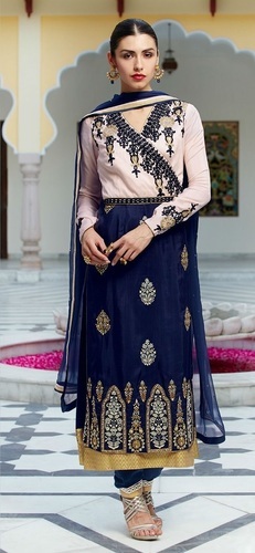 Blue Colour Maternity Churidar Salwar Kameez