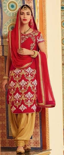 Silk Velvet Pakistani Long Patiyala Suit