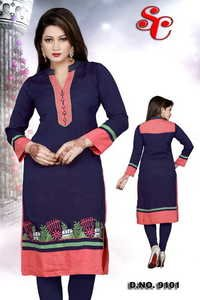 black color cotton kurtis