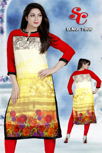 Long Anarkali Kurtis in georgette fabric
