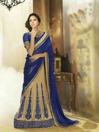 Charimatic Designer Saree Boasting Of Pastel Hues