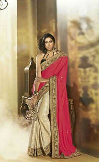 Lutrous Designer Saree With Phenomenal Colour Combination