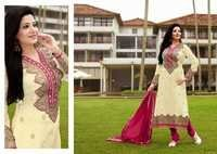 Creame Embroidered Brasso Suit
