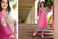 Light Pink Embroidered Brasso Suit