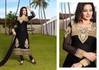 Black Embroidered Brasso Suit