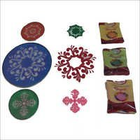 Stencils Of Rangoli Colours