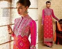 Shervani Style Straight Pink Suit