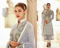 Shervani Style Straight White Suit