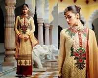 Shervani Style Straight Cream Suit