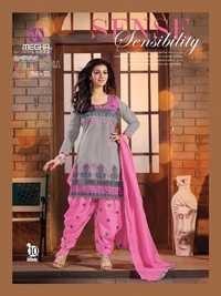 Ayesha Takiya Super Hit Grey Pink Patiyala Suit