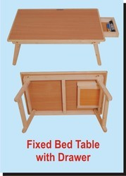 Fixed Bed Table with Drawer