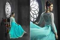 Sky Light Trendy Gown