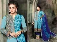 Aqua Blue Mohini Embroidered Latest Suit