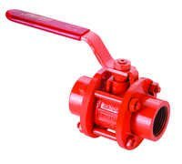 CAST STEEL (WCB) 3 PCS BALL VALVE SCREWED ENDS