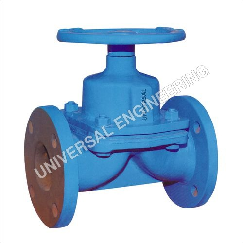 CAST IRON DIAPHRAGM VALVE FLANGED ENDS