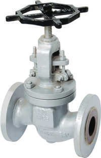 CAST STEEL (WCB) GLOBE VALVE ND-40 FLANGED ENDS