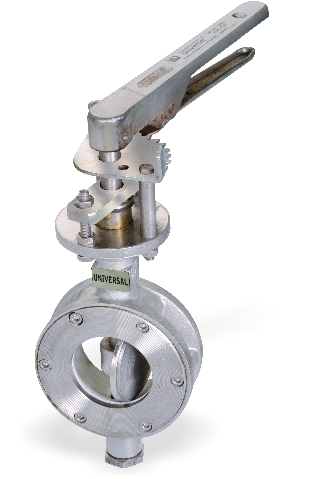 I.C 304/316 BUTTERFLY VALVE 304/316 DISC OFFSET DISC  SEATED