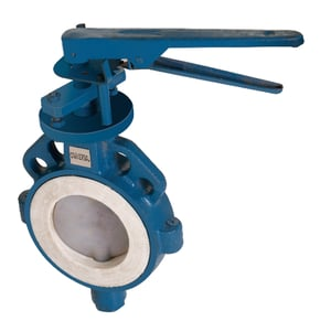 CAST IRON / CAST STEEL FEP / PFA LINED BUTTERFLY VALVE S.S 304/316 DISC