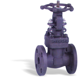 FORGE STEEL GATE VALVE FABRICATED FLANGED ENDS