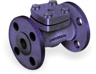 FORGE STEEL CHECK VALVE / NON RETURN VALVE FABRICATED FLANGED ENDS