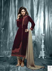 Stylish Velvet Salwar Suit