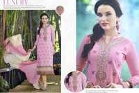 Pink Embroidered Ethnicc Cotton Suit