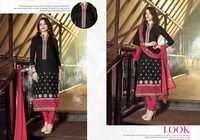 Black Embroidered Ethnicc Cotton Suit