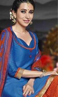 Blue Low Range Patiyala Suit By Karishma Kappor