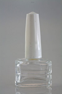 Clear Glass Nail Enamel Bottle With Cap