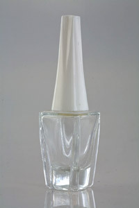 Clear Glass Nail Polish Container With Cap
