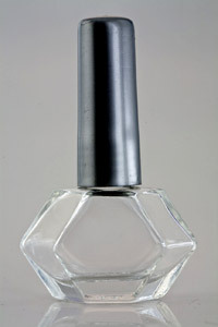 Clear Glass Nail Polish Bottle Set