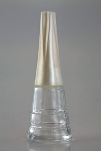 Empty Clear Glass Bottle With Cap