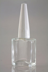 Empty Clear Glass Nail Paint Bottle