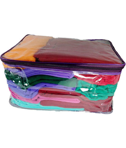 PVC shopping bags with zipper for packing