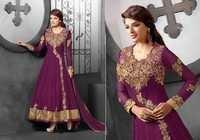 Gorgeous Violet Embroidered Anarkali Suit