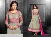 Gorgeous Off White Embroidered Anarkali Suit