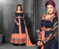 Gorgeous Peach Embroidered Anarkali Suit