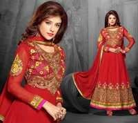 Gorgeous Red Embroidered Anarkali Suit
