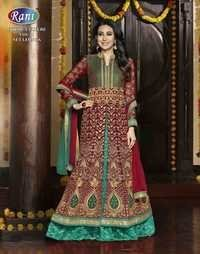 Redy Aqua Fully Embroidered Anarkali Suit
