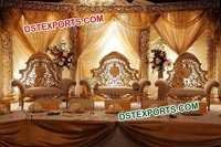 INDIAN WEDDING GOLDEN FURNITURE SET