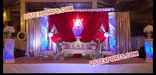 WEDDING STAGE WITH MAHARAJA SOFA