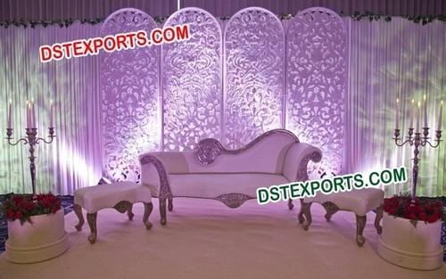 English Wedding Stage Backdrop Panels