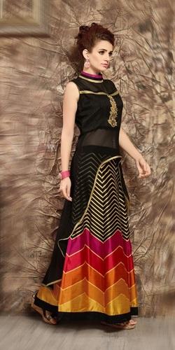 Stylish Georgette Lehenga Style Suit