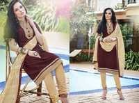 Creamy Maroon Traditional Style Cotton Dress