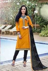 Yellow Traditional Style Cotton Dress