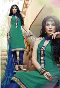 Sea Green Traditional Cotton Dress